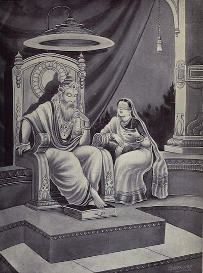 who is Dhritarashtra (धृतराष्ट्र) the King of Hastinapur at the time of the Kurukshetra War .. we think blind king. he is wife follow Dhritarashtra . No he blind of mind is mining of (not eye blind) Dhrita (धृत) dirt . him life is Luxury, Orgy, Fruition , Indulgence so our life is like Dhrit (धृत) which is blind of mind we can not think good and tack all ,which is life is like Dhritarashtra (धृतराष्ट्र)  Gandhari and Dhritarashtra