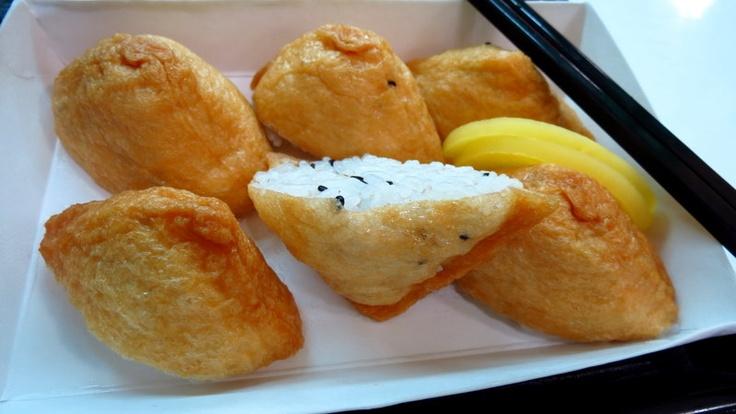 Tofu sushi at Ulsan train station