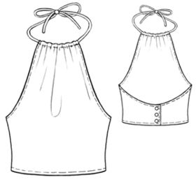 Halter top **PDF Pattern**