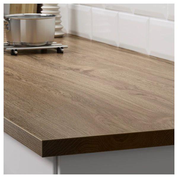 Ekbacken Plan De Travail Motif Chene Fonce 246x2 Ikea Laminate Worktop Ikea Countertops