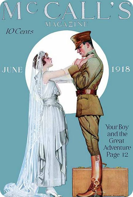 June 1918 McCall's magazine cover by Coles Phillips