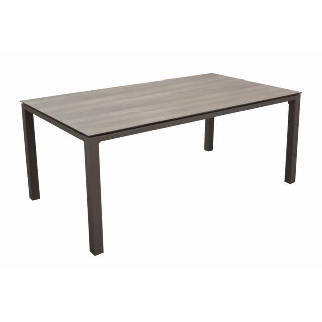 PROLOISIRS Table Stoneo avec un plateau sur mesure Trespa ...