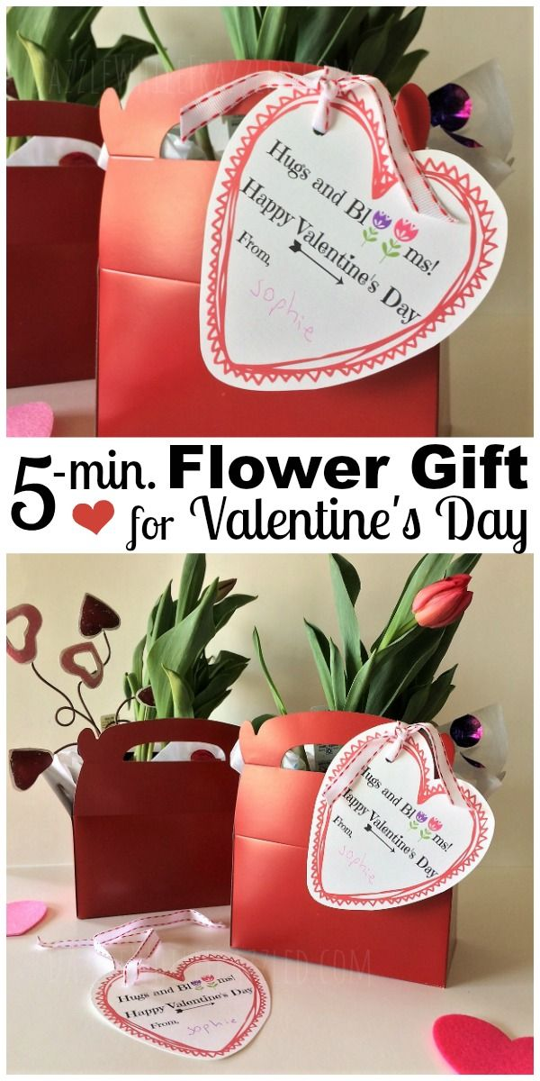 Diy Hugs And Blooms 5 Minute Valentine S Day Flower Gift