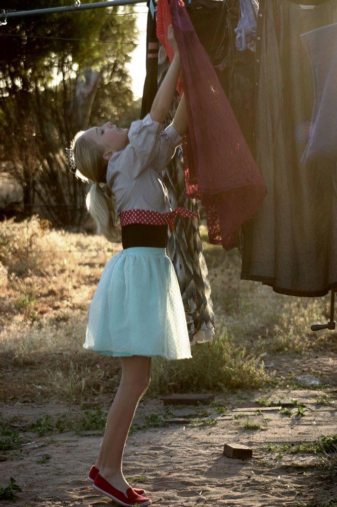 In her #carrie skirt for #frocktober