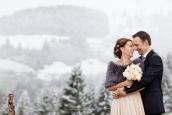 Austrian Winter Wedding by Birgit Hart Fotografie | Style Me Pretty