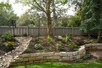 small rock retaining wall yard ideas pinterest