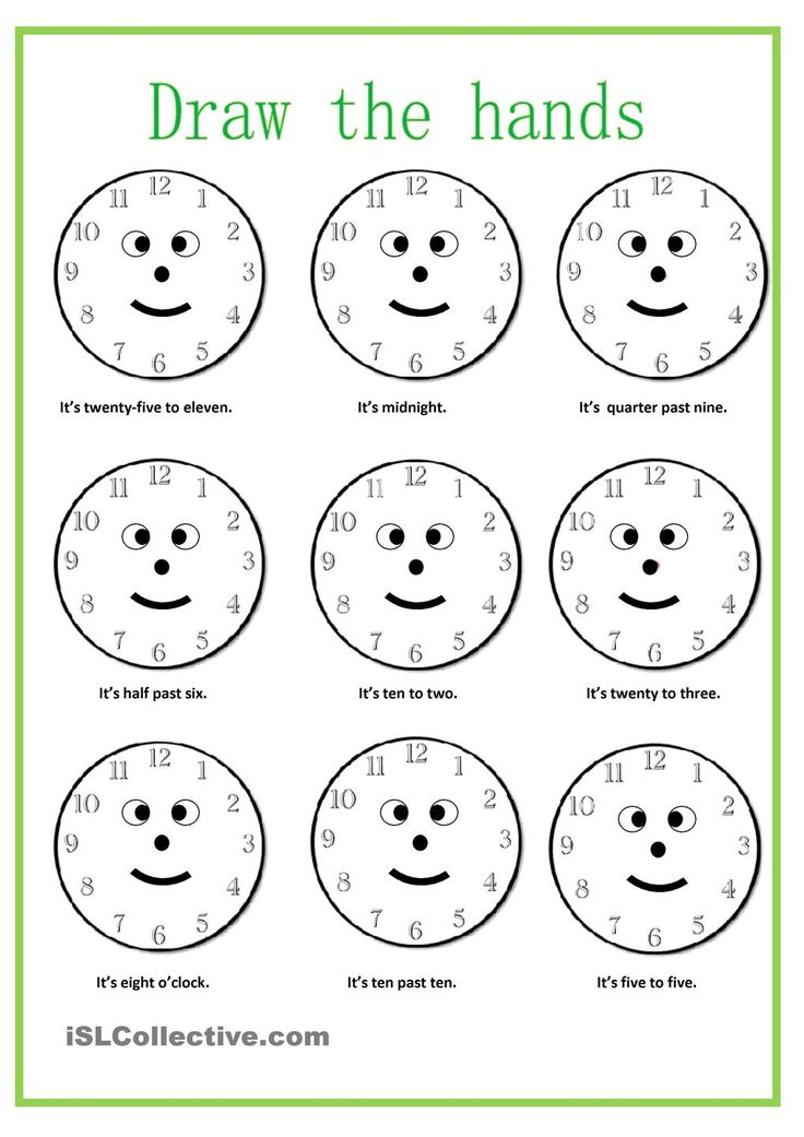 Zany image regarding telling time worksheets printable