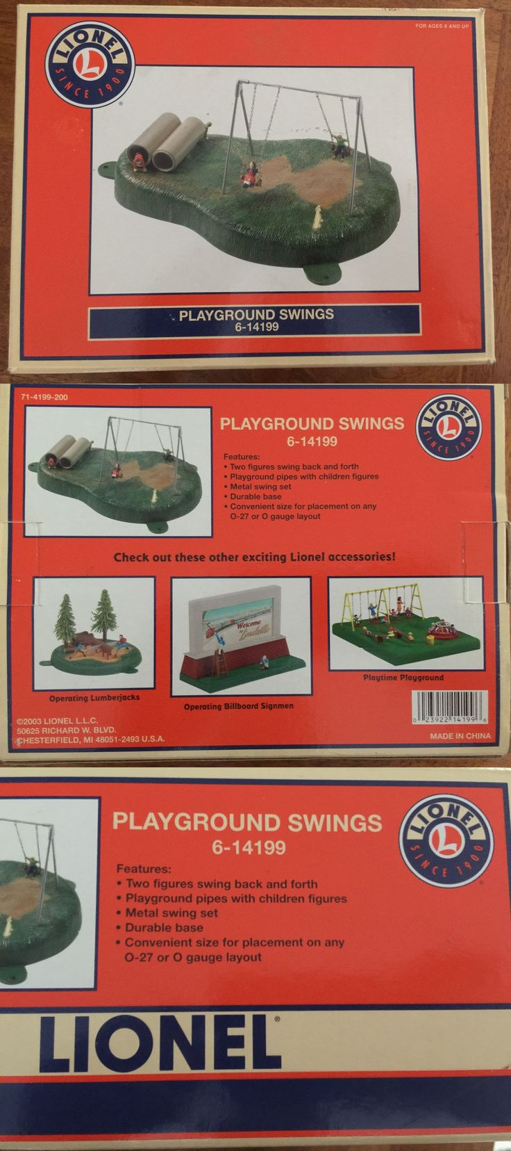 Swing sets wayfair metal amp wooden swingsets for kids - Figures And People 81053 Lionel Playground Swings 6 14199 New In Box Swinging