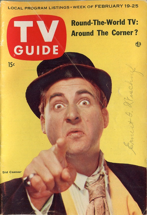 Sid Caesar, cover of TV Guide, February 19, 1955