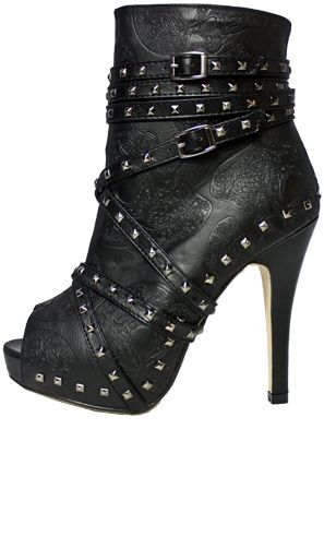 Iron Fist Manslayer Booties. #shoes #heels #style #fashion