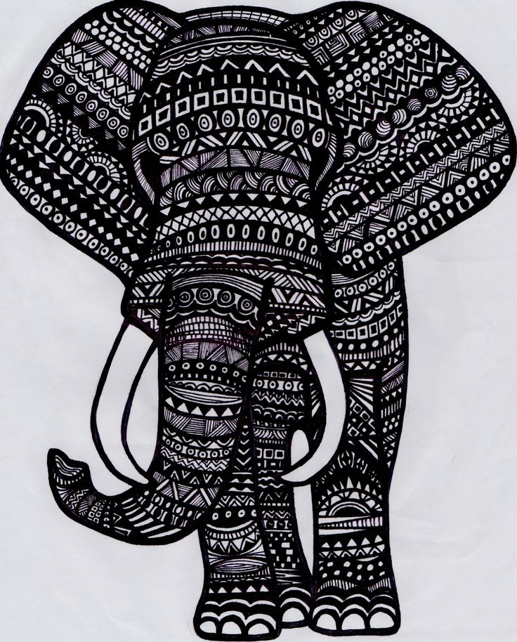 Best 25 Tribal Elephant Drawing Ideas On Pinterest