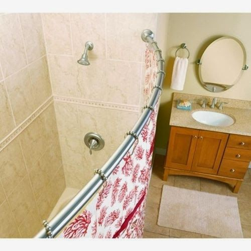 Preparing For Holiday House Guests: Expand Your Bathroom With A Curved  Shower Curtain Rod