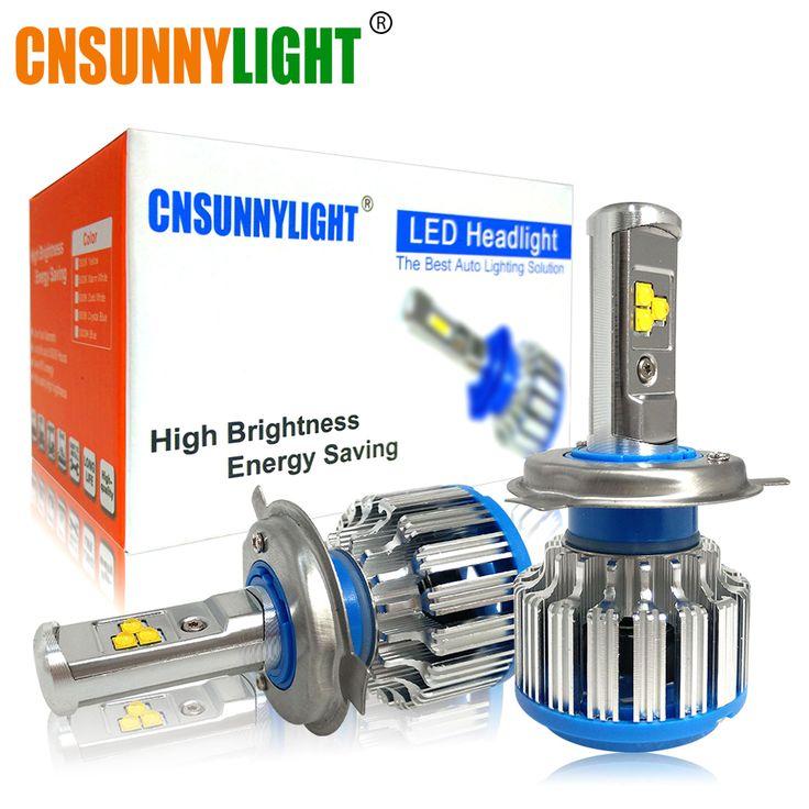 check price cnsunnylight h4 h13 hilo car led headlight high power hb2 9003 9007hb5 9004hb1 40w x2 #focus #lighting