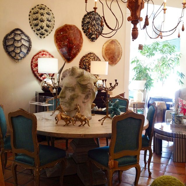 Tortoise #shell decor and #bust decor at #Mecox #PalmBeach #interiordesign #MecoxGardens #furniture #shopping #home #decor #design #room #designidea #vintage #antiques #garden