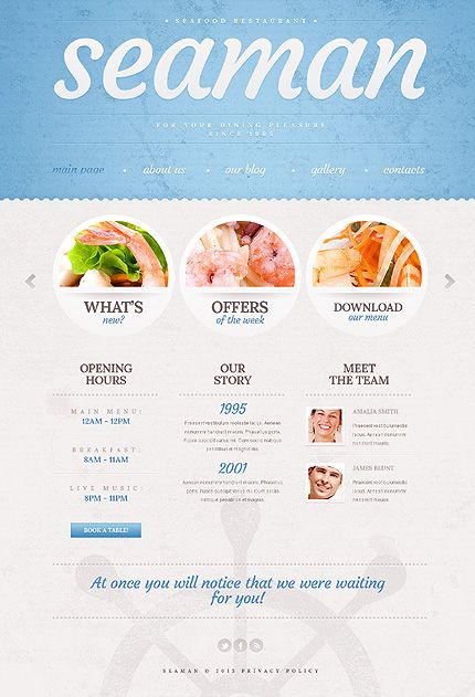 Seafood Restaurant WordPress Theme #cafe #food #website http://www.templatemonster.com/wordpress-themes/42897.html?utm_source=pinterest&utm_medium=timeline&utm_campaign=cyan