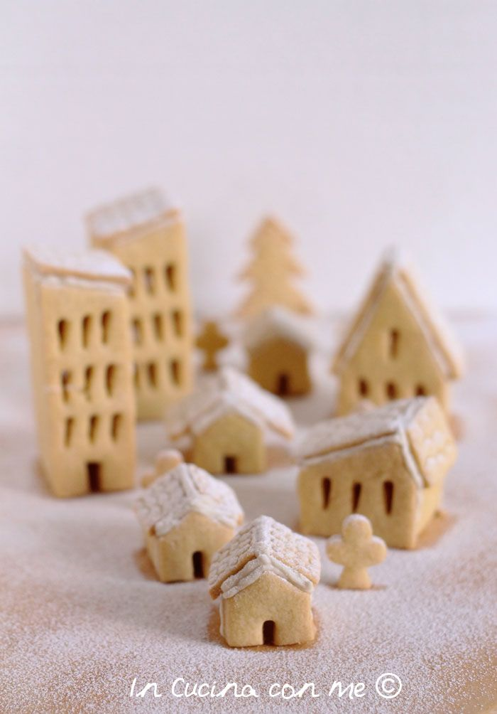 Un delizioso villaggio fatto di casette di biscotto, tutto da gustare