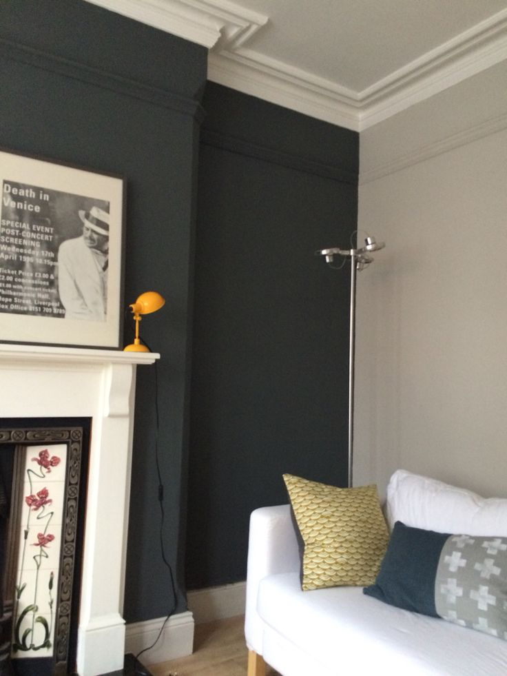 FARROW & BALL, Walls in Down Pipe No. 26 Find it at Palette Paint and Home! http://palettepaint.com/shop/down-pipe-26/