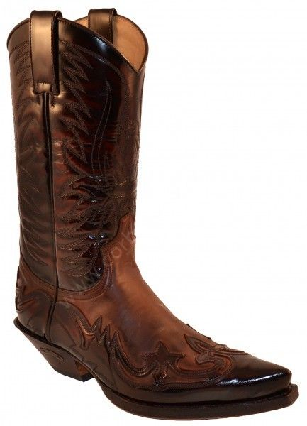 3241 Cuervo Florentic Fuchsia-Sprinter 7004 | Sendra unisex combined brown leathers cowboy boots  206 E