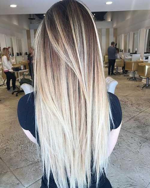 Neueste gerade lange Frisuren für Frauen