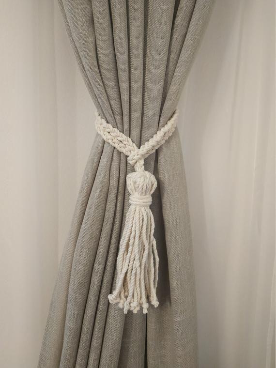 Tassel Curtain Tie Backs Cotton Rope Curtain Tie Back Beach