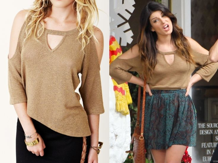 "Annie's top from 90210 episode 5.09 ""The Things We Do For Love"". 90210-style:  Annie's going to be wearing this relaxed co..."