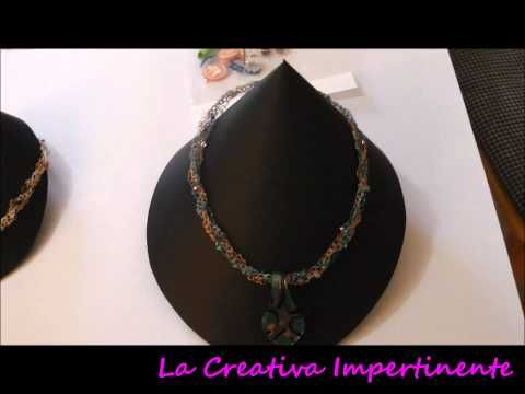 TUTORIAL:Espositore Per Collane Fai Da Te/To display Necklaces Handmade/Collares Hechos A Mano Para - YouTube