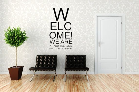 Eye Chart - Decal, Sticker, Vinyl, Wall, Home, Optometrist, Office Decor, Snellen Chart