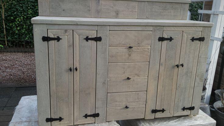 Steigerhouten grey wash meubels