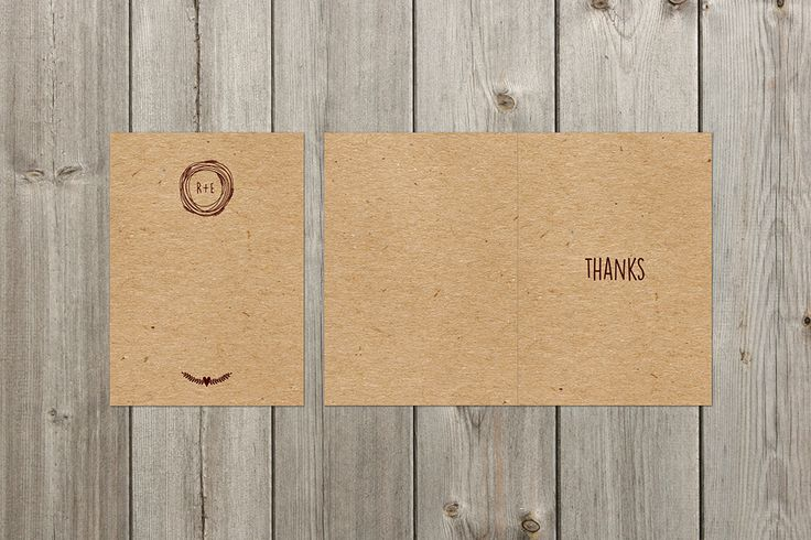 Kraft - Rustic Design Wedding Thank You Card by I Do Invites by Sally