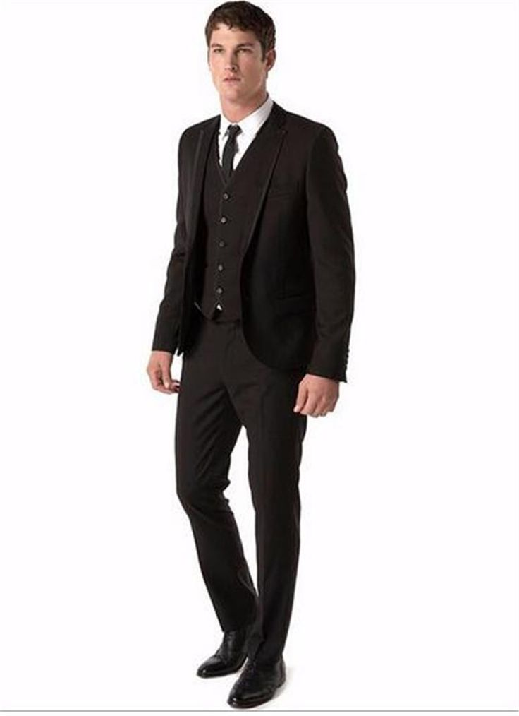 Brown Men Suits With Pants Custom Grooms Mens Tuxedos Slim Fit Notch Lapel One Buttons Jacket + Pants+Tie +Vest Mens Tuxedo Tails Mens Tuxedo With Tails From Tianheshuishop, $96.28| Dhgate.Com