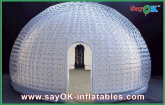 China 8 Person Vinyl Inflatable Air Tent Dome Inflatable Bubble Tent For Entertainment supplier