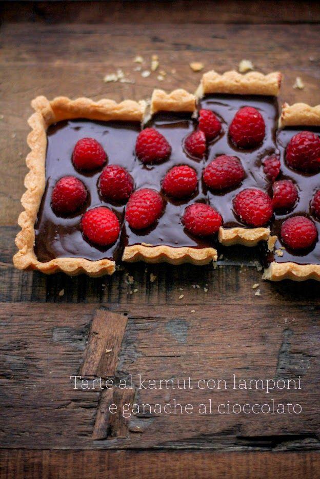- VANIGLIA - storie di cucina: La mia pasta frolla al kamut versione #2: con lamponi e ganache al cioccolato