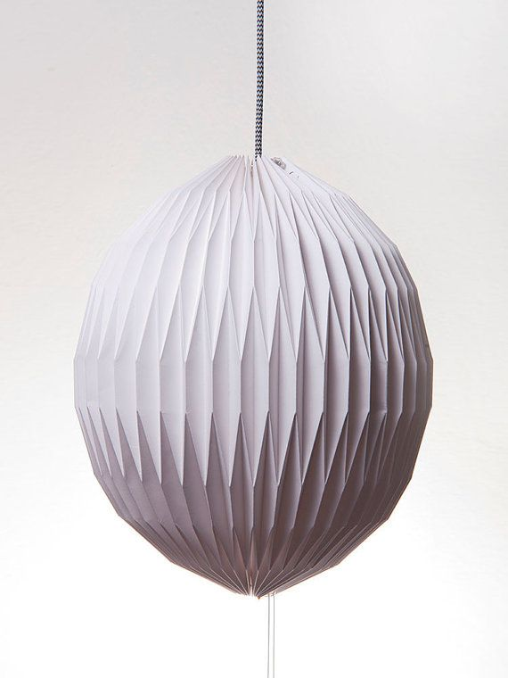 Origami paper lamp  Lampshade PLISÉ sphere by LampshadoLamps