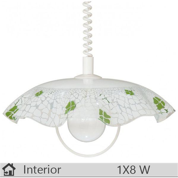 Pendul iluminat decorativ interior Klausen, gama Lucy, model D400  S Verde