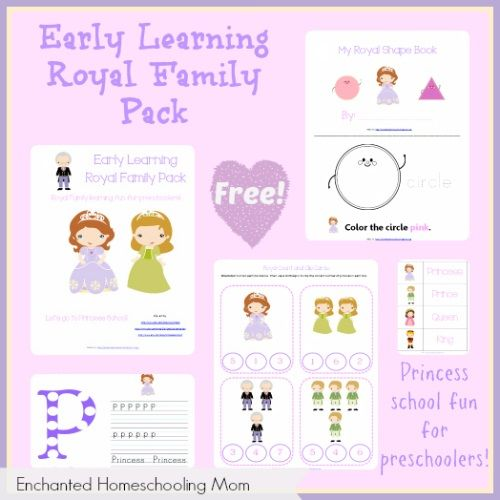 Early Learning Royal Family Pack - Enchanted Homeschooling Mom