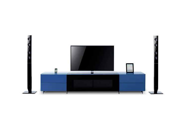 VIG Furniture - Smartbase - Modern iPhone or iPad Dock Ready Glass Entertainment Center - VGWCSMARTBASE-SMALL