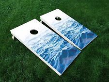 VINYL WRAPS Cornhole Board DECALS Beach 02 Ocean Water Nature Bag Game Stickers