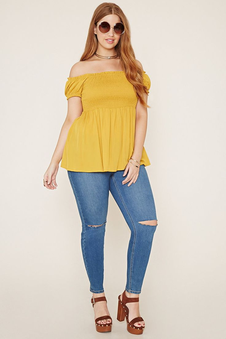 Plus Size Smocked Top | Forever 21 PLUS - 2000186026