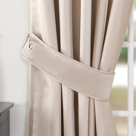 Dunelm Cream Curtain Tiebacks