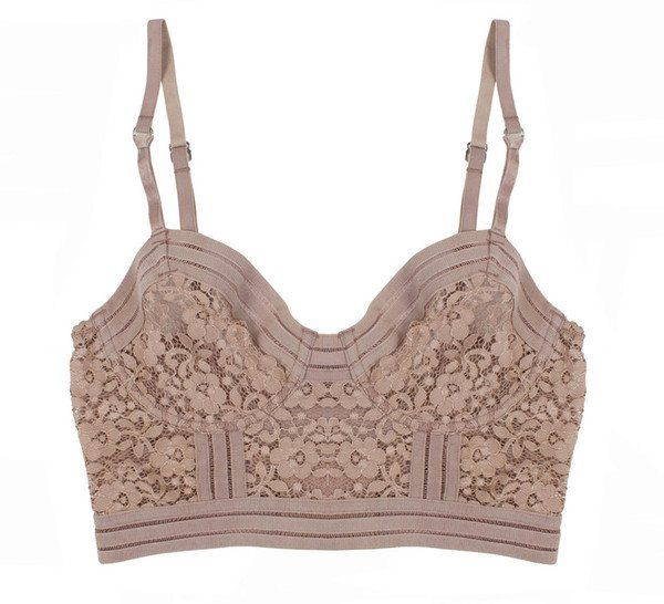 Agnes Longline Bra Taupe - Lonely Lingerie