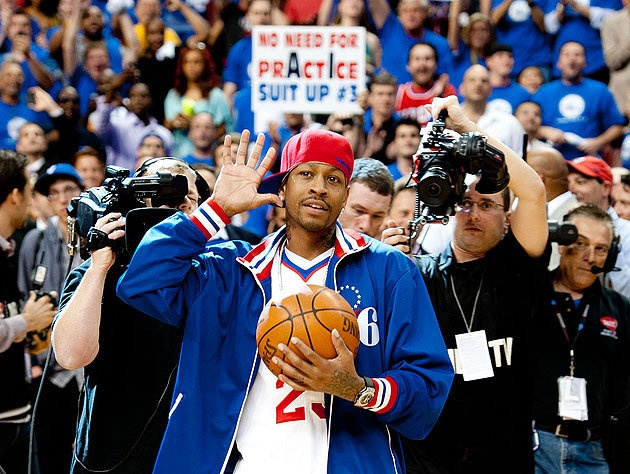 @ G P -Allen Iverson at the Wells Fargo Center, May 2012. ~ check the sign in the back