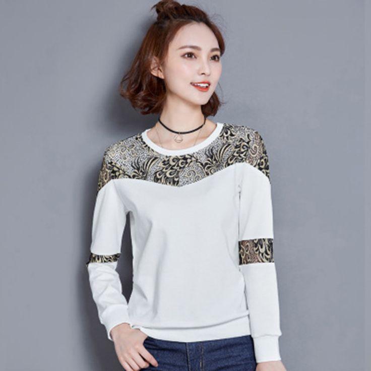 T shirt Women Poleras De Mujer Long Sleeve Sexy O-Neck Tops Tee Shirt Femme Vetement Femme Plus Size Women Tshirt T-shirt