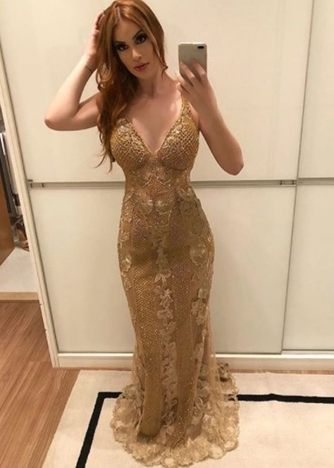 Para Formandas 2018Style Dourados 10 Madrinhas Vestidos E dreQxBoWC