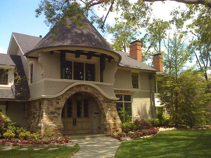 164 best storybook style homes images on pinterest for Cottage style house