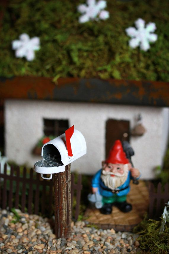 Fairy Garden Accessories Mailbox miniature by TheLittleHedgerow