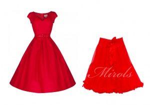 Lindy Bop red Liberty dress & Mirols red long petticoat