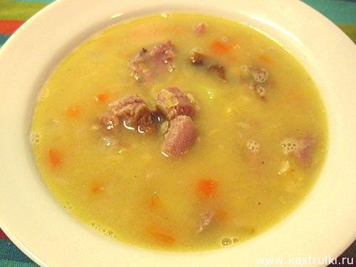 Суп гороховый с копченостями фоторецепт