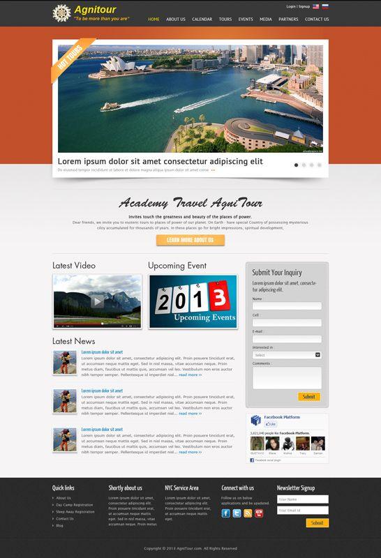 Website Design and Development for Agni Tours
