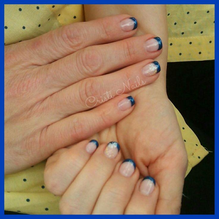 Nails francesa azul