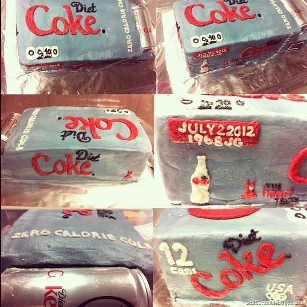 diet coke birthday cake